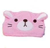 Pink Cat Design Dog Bathrobe Towel