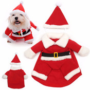 Santa Claus Dog Costume & Hat
