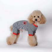 Black Striped Sailor Dog Pyjamas