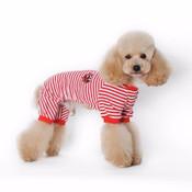 Red Striped Sailor Dog Pyjamas