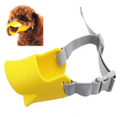 Yellow Silicone Duck Mask Dog Muzzle