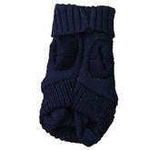 Dark Blue Mini Knitted Dog Jumper