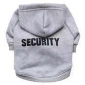 Grey Security Guard Dog Hoodie
