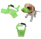 Green Mesh Dog Muzzle