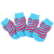 Blue/Pink Striped Dog Socks