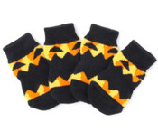 Black Pumpkin Dog Socks
