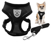 Black Nylon Dog Harness & Lead Set
