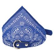 Dark Blue Paisley Dog Bandana Collar
