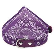 Purple Paisley Dog Bandana Collar