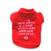 Red Dear Santa Dog Xmas Fleece