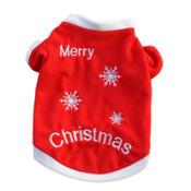 Red Merry Christmas Dog Xmas Fleece