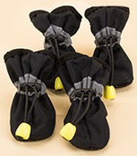 Black Waterproof Dog Boots