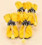 Yellow Waterproof Dog Boots