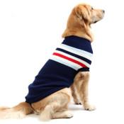 Large Blue Stripe Knitted Dog Jumper