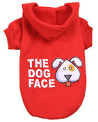 Red The Dog Face Dog Hoodie