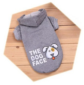 Grey The Dog Face Dog Hoodie