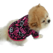 Black Pink Love Peace Dog Fleece