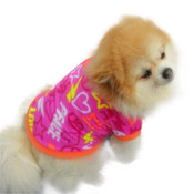 Pink Orange Love Peace Dog Fleece