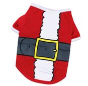 Red Santa Claus Christmas Dog T-Shirt