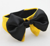 Yellow Bow Tie Dog Collar [Size LM]