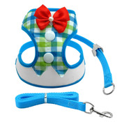Blue Tuxedo Suit Dog Harness & Lead Set
