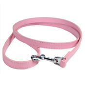 Pink PU Leather Effect Dog Lead