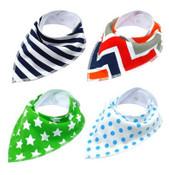 Pack of 4 Dog Bandana Scarves (Style 2)
