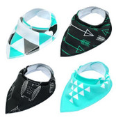 Pack of 4 Dog Bandana Scarves (Style 4)