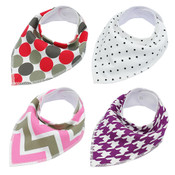 Pack of 4 Dog Bandana Scarves (Style 5)