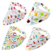 Pack of 4 Dog Bandana Scarves (Style 8)