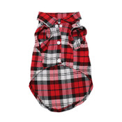 Red Tartan Checked Dog Shirt