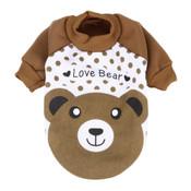 Brown Bear Dog Sweatshirt