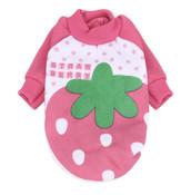 Pink Strawberry Dog Sweatshirt