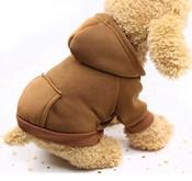 Brown Plain Dog Hoodie