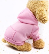 Light Pink Plain Dog Hoodie
