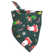 Green Christmas Santa Claus Dog Bandana