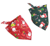 Pack of 2 Christmas Santa Claus Dog Bandanas