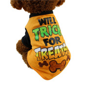 Orange Halloween Trick or Treat Dog T-Shirt
