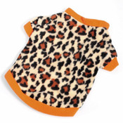 Orange Leopard Print Dog Fleece Jumper