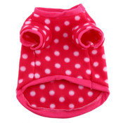 Bright Pink White Spot Dog Fleece Jumper