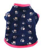 Blue Pink Paw Dog Fleece Jumper