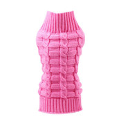 Pink Classic Knitted Dog Jumper