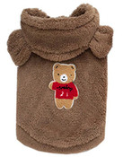 Brown Teddy Bear Fleece Dog Coat