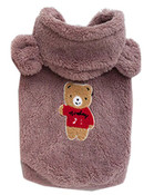 Grey Teddy Bear Fleece Dog Coat