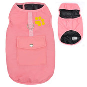 Pink Black Reversible Dog Vest Coat