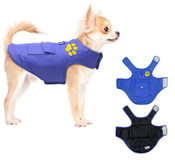 Blue Black Reversible Dog Vest Coat