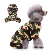 Green Brown Camo Print Dog Fleece Onesie Pyjamas