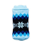 Blue Snowflake Knitted Dog Jumper