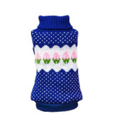 Blue Strawberry Knitted Dog Jumper