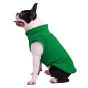 Green Plain Fleece Dog Coat